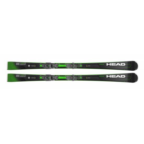 Комплект Supershape e-Magnum SF-PR + PRD 12 GW BRAKE 85 [F] (313300+100834) (горные лыжи+крепления гл) black/neon yellow