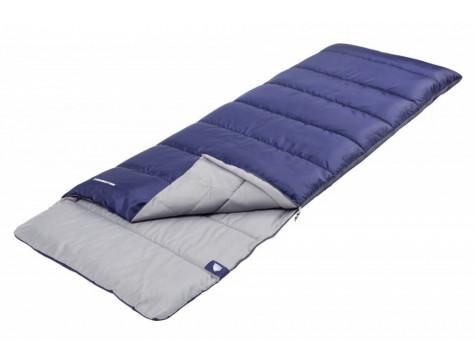 Спальный мешок TREK PLANET Avola Comfort XL, широкий, левая молния, цвет: синий
