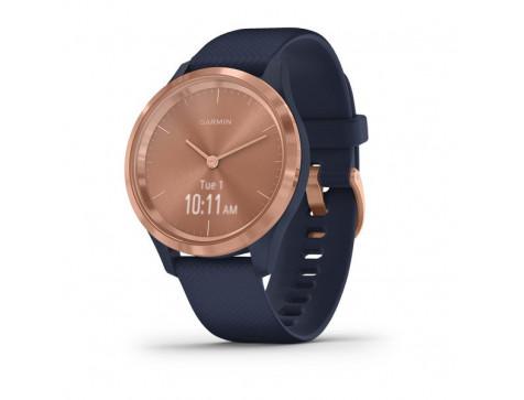 Спортивные часы Garmin vivomove 3S, S/E EU, Rose Gold, Navy, Silicone (010-02238-23)
